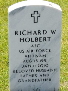 Richard Holbert headstone