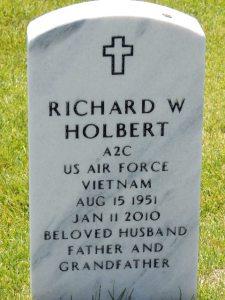 Richard Holbert headstone